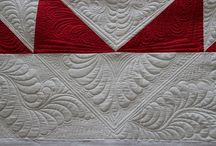 Feather Love / I love machine quilting feathers. Whether you use a sewing machine or a longarm, feathers are a timeless design that looks great on many quilts. For feather-ific eye candy, check out my board