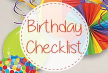 Checklist for hosting a Birthday Party / Birthday Party Planning Checklist - plan out your themes, menu, supplies, and favors by following these simple and time saving steps.