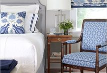 Blue and White Bedrooms / Ideas for my guest room