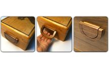 Accessories for custom wooden boxes / Made from the wood of the custom box