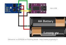 Flasher le firmware d'origine d'un ESP8266 / Réinstaller le firmware AT Command sur un ESP-01. Flash AT Command Firmware on a ESP-01