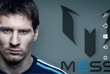 Lionel Messi of Argentina / Theme For Windows 7 8 8.1