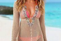 Beach outfits, tunics, swimwear