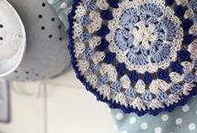 Crochet pot holders / presine