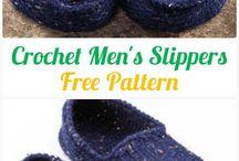 Men's slippers crochet free
