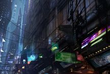 Cyberpunk/Steampunk Environments