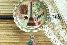 Bottle cáps necklace