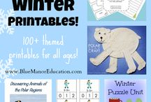 January Activities and Printables for Preschoolers