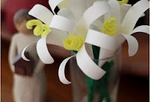Flowers: fabric, paper, ribbon, plastic / by Jacqueline Irwin