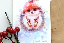новогодние рисунки