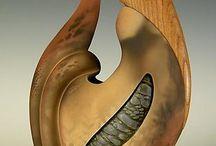 ceramiek en hout / sculpture