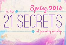21 SECRETS / Online Art Journaling & Mixed Media Workshop | Comes Out Every April & October | Founded in 2010