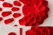 cojines con flores d tela