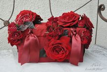 Painting the Roses Red / Romance blossoms in shades of red with Nisie's Enchanted Florist