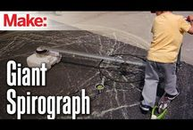 DIY giant spirograph