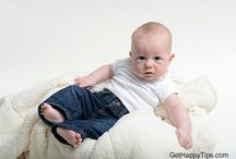 Baby and Infant Photography Ideas / Photography ideas for babies, infants and children.  / by GetHappyTips