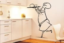 Characters wall decals / by DezignWitha Z