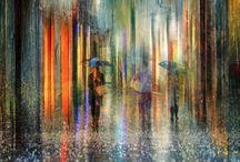 óleos lluvia