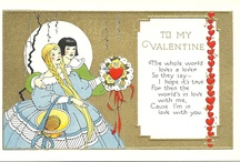 Vintage greeting and postcards