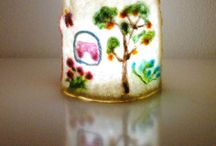 Felted lamps