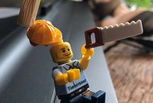 Lego and wood,