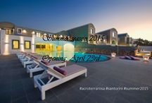 April 23, 2015 Summer season opening / We are pleased to announce our opening date of the 2015 summer season! So, mark the calendars, on April 23rd our gates will open to welcome you with a few surprises!!! #acroterrarosa #Santorini #summer2015
