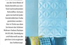 As seen in magazines / Our amazing wall covering products featured in European magazines.