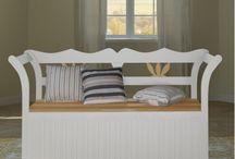 Wooden Bench Storage Seat