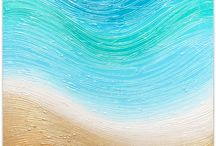 Artworks by Miranda Lloyd Artist / Some new pieces based on ocean feel and nature