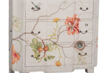 Hand Painted Furniture & Home Decor / Hand painted furniture, hand painted chests, hand painted lamps, floral painted furniture, floral painted chests, floral painted console, floral painted wall decor, floral painted wall art,  http://www.TaramundiFurniture.com