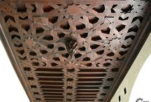 Old Spanish Ceilings, Picasso Museum /  Picasso Museum in Malaga. Carved wood ceilings.