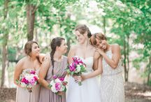 Pink & Green Rustic Woodsy Wedding