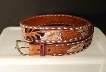 Vintage Tooled Leather Belts / Vintage Tooled Leather Belts