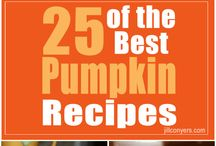 Healthy Pumpkin Recipes / Sharing a love of all things pumpkin! / by Jill Conyers