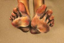 stopy i dłonie