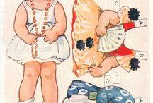 Paper doll cut / Öltöztetős baba