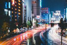 夜の綺麗な景色 町など