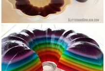 Rainbow Jelly Cake