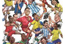 Caricaturas Jugadores de Fútbol / Divertidas ilustraciones de los más reconocidos jugadores de fútbol,  Mundial de Fútbol Brazil 2014