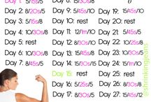 Monthly workouts