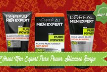 L'Oreal Men Expert Pure Power Skincare Range / If you feel that having bad skin is the end of your good looks, be amazed with the power of L'Oreal Men Expert Pure Power Skincare Range and see and feel the difference! Check out our blog how to solve your skin problems.