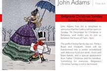 Belgravia Christmas Sunday Exhibition / Come and join us at John Adams Fine Art for the Belgravia Christmas Sunday (7th December, 11am - 4pm). The exhibition promises cheerful artworks to help you overlook the chill of Winter and ahead to the festivities!