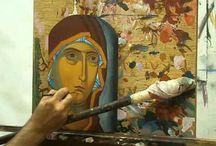 Ikon rajzolás-festészet
