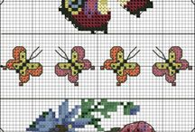 вышивка бабочки