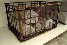 Baskets- wicker & wire / by Stacey Fox Kingston