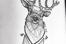 Geometric tatoo