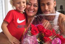 Davi , Neymar Jr i Nadine Goncalves