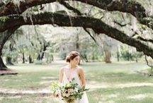 Wooded Styled Shoot Inspiration / Fine Art Wedding Photography Inspiration. Wooded Bridal Shoot using Fuji 400h Film.
