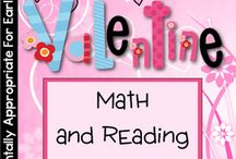Valentine Theme / Valentine thematic fun for kindergarten math, reading, social studies, art, music, writing, and science.