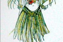 Hula Girl - female Dancer or Swing